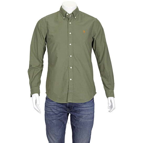 Polo Ralph Lauren Oxford Custom Fit Shirt in Green, Brand Size X-Small   Joma Shop