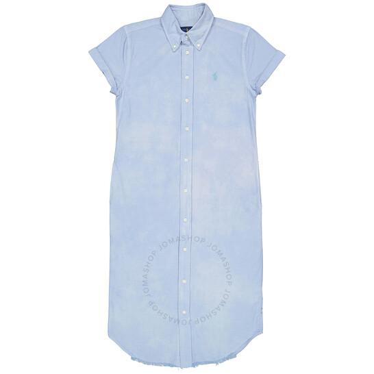 Polo Ralph Lauren Short-sleeve Cotton Oxford Shirt Dress
