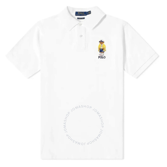 Polo Ralph Lauren White Basic Mesh Polo Shirt, Brand Size Large | Joma Shop