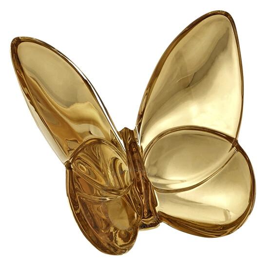 Baccarat Porte-Bonheur Gilded Gold Butterfly 2812622 | Joma Shop