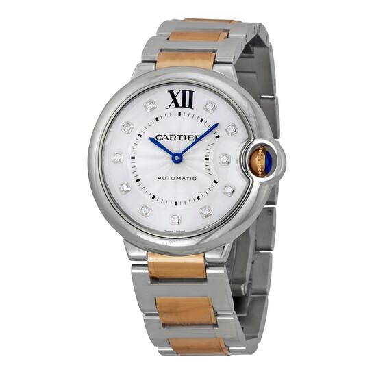 Cartier Pre-owned Cartier Ballon Bleu de Cartier Automatic Diamond Ladies Watch WE902031   Joma Shop