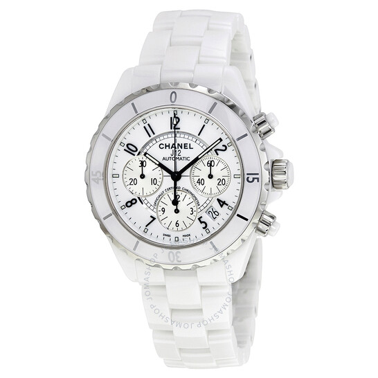 Chanel Pre-owned Chanel J12 Chronograph White Ceramic Unisex Watch H1007   Joma Shop