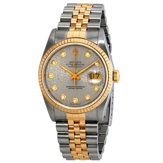 Rolex Pre-owned Rolex Datejust Automatic Diamond Silver Dial Men's Watch 16233 SJDJ | Joma Shop