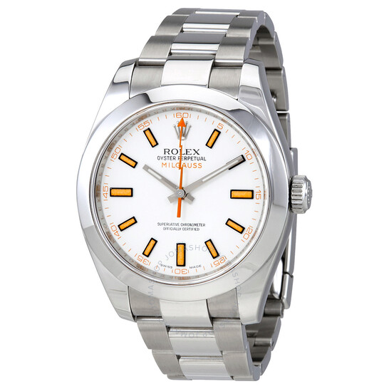 Rolex Pre-Owned Rolex Milgauss White Dial Stainless Steel Rolex Oyster Automatic Men's Watch 116400WSO | Joma Shop