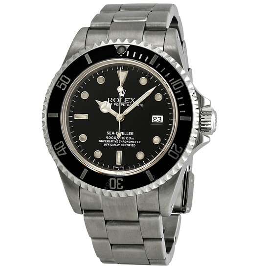 Rolex Pre-owned Rolex Sea Dweller Black Dial Stainless Steel Men's Watch 16600BKSO | Joma Shop