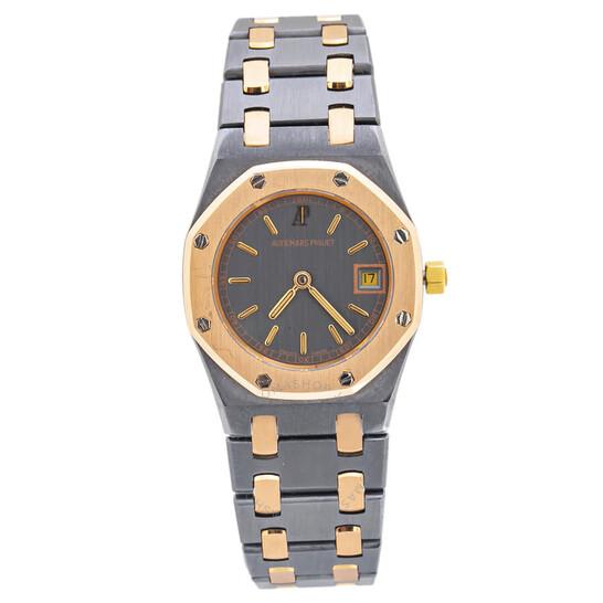 Audemars Piguet Pre-owned Audemars Piguet Royal Oak Quartz Grey Dial Ladies Watch D66330 | Joma Shop