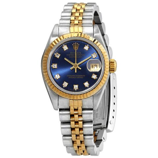 Rolex Pre-owned Rolex Datejust Automatic Diamond Ladies Watch 69173BLSJ | Joma Shop