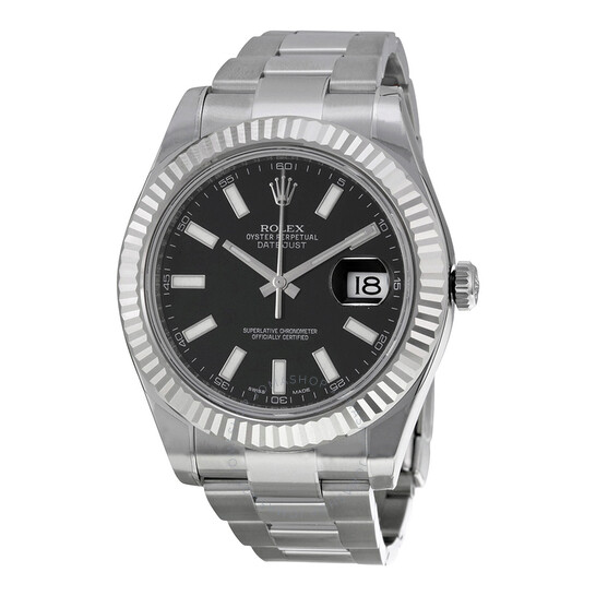 Rolex Pre-owned Rolex Datejust II Automatic Black Dial Men's Watch 116334BKSO | Joma Shop