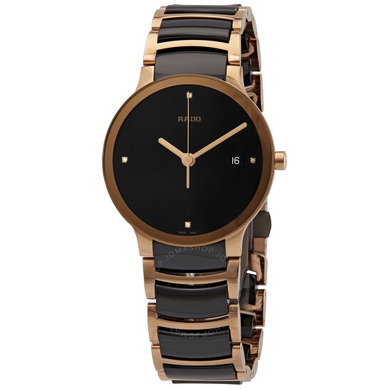 Rado Centrix Jubile Black Dial Black Ceramic Men's Watch R30554712   Joma Shop