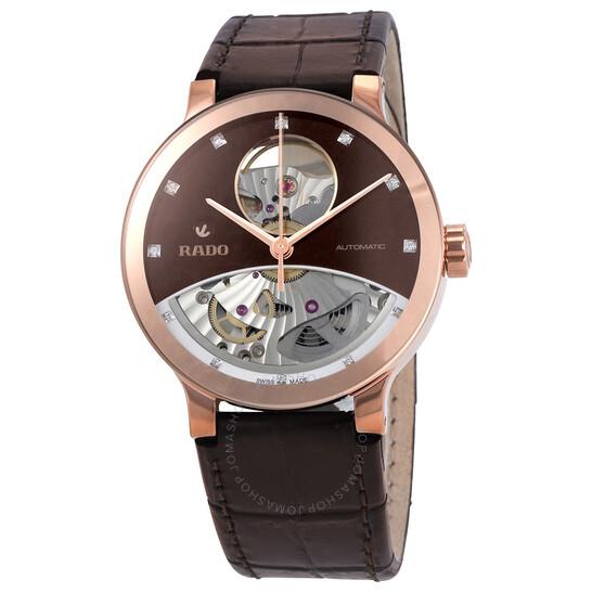 Rado Centrix Open Heart Automatic Brown Dial Ladies Watch R30248715   Joma Shop
