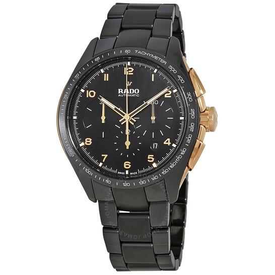 Rado HyperChrome Chronograph Automatic Black Dial Men's Watch R32111162   Joma Shop