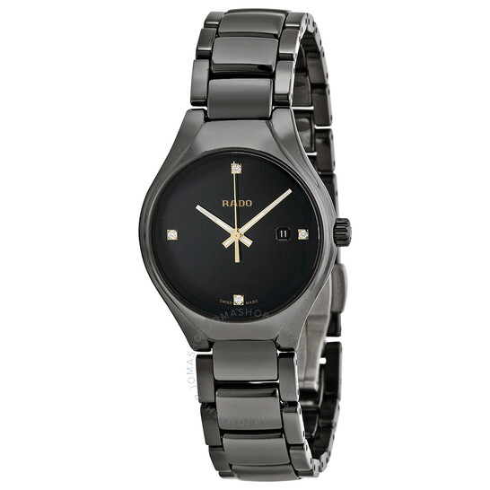 Rado True Black Dial Black Ceramic Ladies Watch R27059712 | Joma Shop