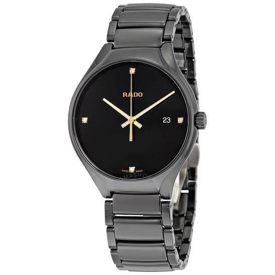 Rado True Black Dial Black Ceramic Men's Watch R27238712 | Joma Shop