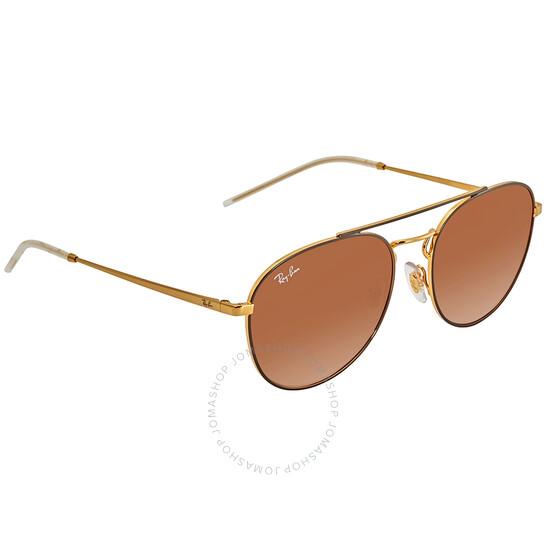 Ray-Ban Brown Gradient Aviator Unisex Sunglasses (RB3589 905513 55)