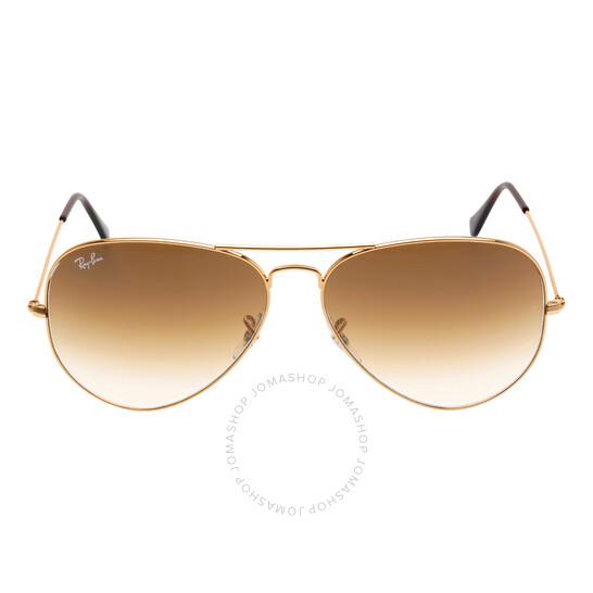 Ray Ban Original Aviator Brown Gradient Sunglasses RB3025 001/51 62-14 | Joma Shop