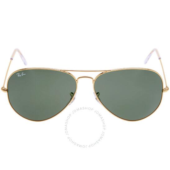 Ray-Ban Original Aviator Green Classic G-15 Sunglasses (RB3025-001-62)