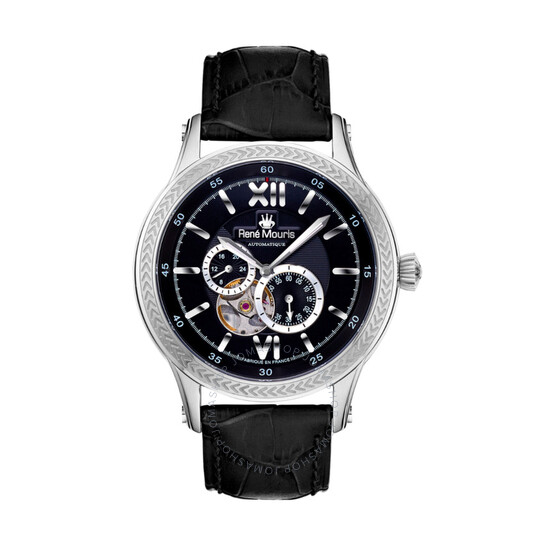 Rene Mouris Corona Automatic Black Dial Men's Watch 70105RM2   Joma Shop