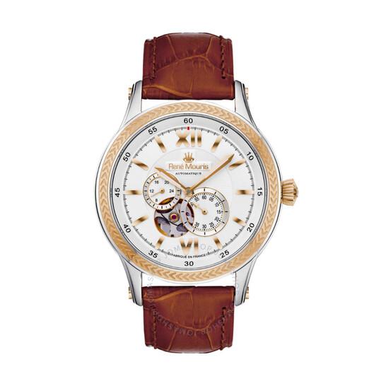 Rene Mouris Corona Chronograph Automatic White Dial Men's Watch 70105RM3   Joma Shop
