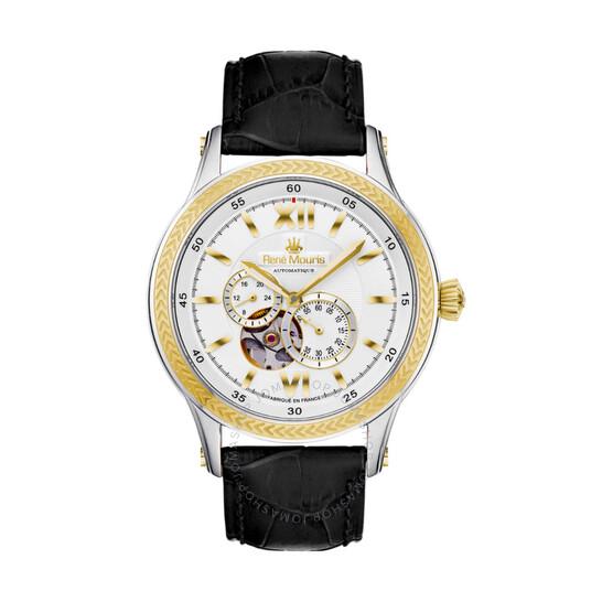 Rene Mouris Corona Chronograph Automatic White Dial Men's Watch 70105RM4   Joma Shop