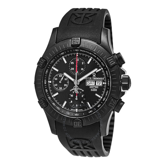Revue Thommen Air Speed XL Chronograph Automatic Black Dial Men's Watch (16071.6877)