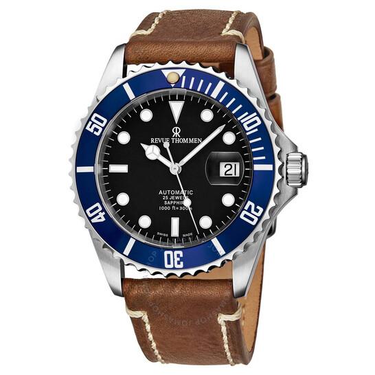Revue Thommen Diver Automatic Black Dial Men's Watch 17571.2535   Joma Shop