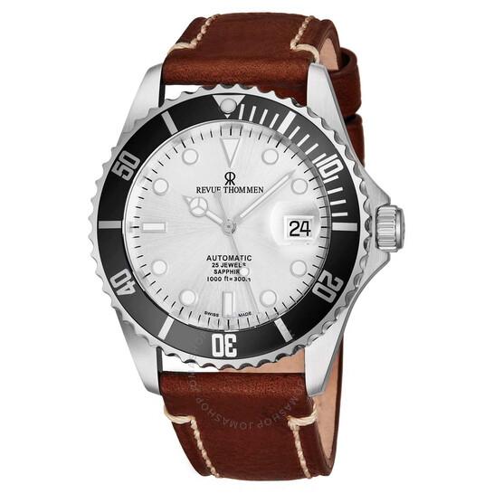 Revue Thommen Diver Automatic Silver Dial Men's Watch 17571.2527 | Joma Shop