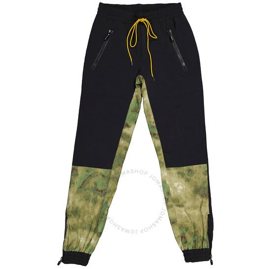 Rhude Black / Camo Nylon Jogger Pants