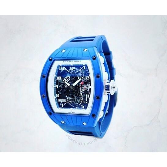 Richard Mille Tourbillon Hand Wind Watch RM015 Blue   Joma Shop