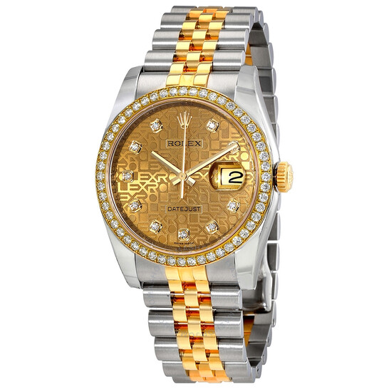 Rolex Oyster Perpetual Datejust 36 Champagne Dial Stainless Steel and 18K Yellow Gold Jubilee Bracelet Automatic 36 mm Watch 116243CJDJ | Joma Shop