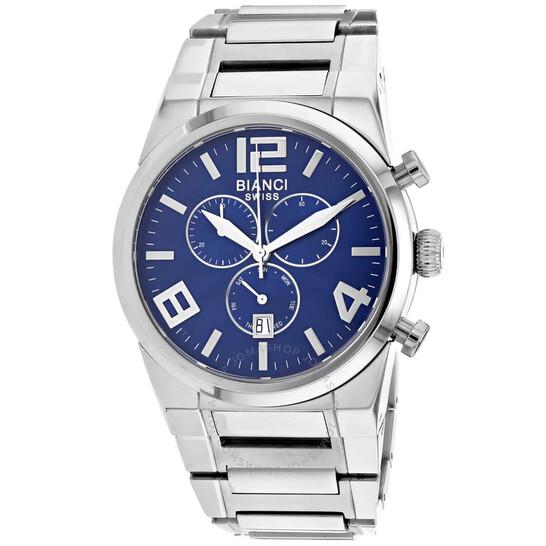 Roberto Bianci Rizzo Chronograph Quartz Blue Dial Men's Watch RB90730   Joma Shop