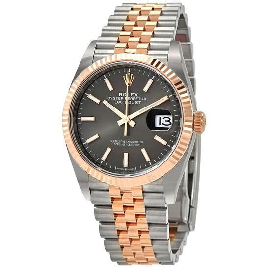 Rolex Datejust 36 Automatic Dark RhodiumDial Men's Steel and 18kt Everose Gold Jubilee Watch 126231DRSJ   Joma Shop