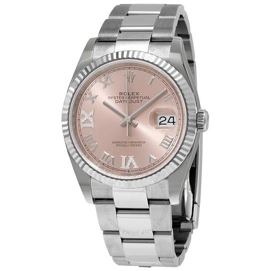 Rolex Datejust 36 Pink Diamond Dial Automatic Men's Oyster Watch 126234PRDO   Joma Shop
