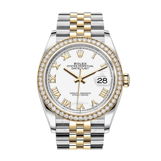 Rolex Datejust 36 White Dial Men's Steel and 18kt Yellow Gold Jubilee Watch 126283WRJ | Joma Shop