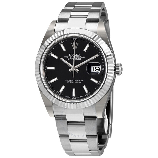 Rolex Datejust 41 Black Dial Stainless Steel Automatic Men's Watch 126334BKSO | Joma Shop