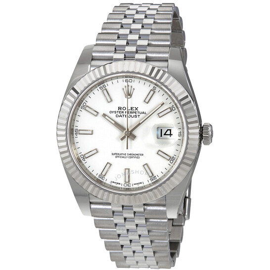 Rolex Datejust 41 White Dial Automatic Men's Watch 126334WSJ   Joma Shop