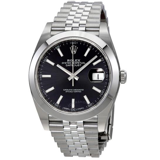 Rolex Datejust Black Dial Automatic Men's Jubilee Watch 126300BKSJ   Joma Shop