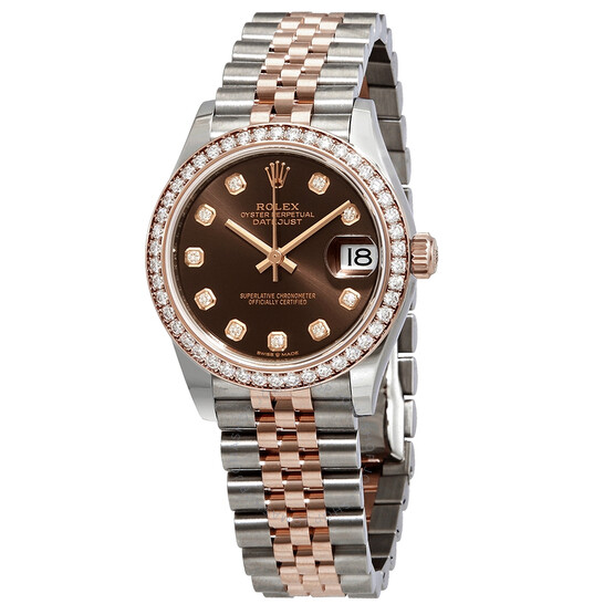Rolex Datejust Chocolate Dial Automatic Ladies Steel and Everose Gold Jubilee Watch 278381CHDJ | Joma Shop