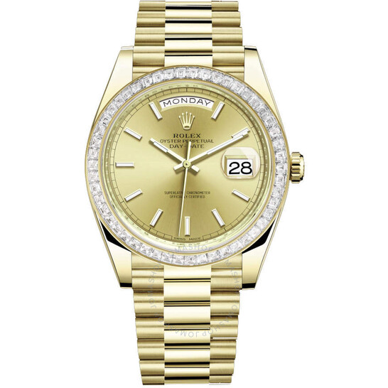 Rolex Day Date 40 Automatic Champagne Dial Men's 18kt Yellow Gold President Watch 228398CSP | Joma Shop