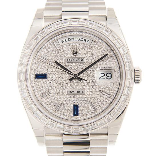 Rolex Day-Date 40 Automatic Chronometer Diamond-Pave Dial Men's Watch 228396tbr-0021   Joma Shop