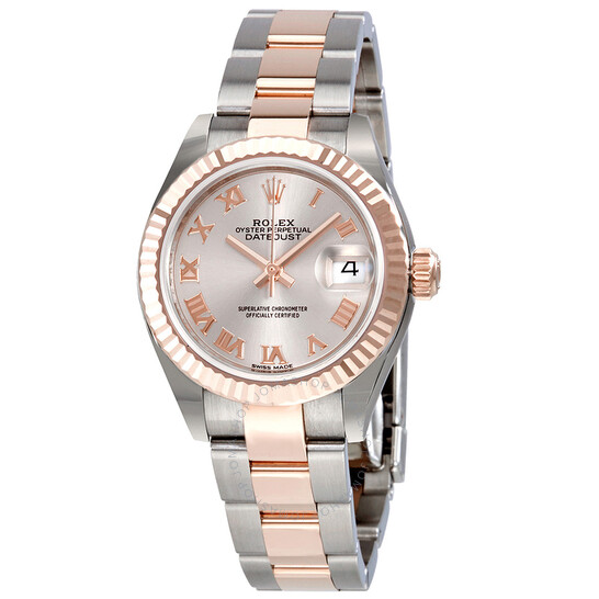 Rolex Lady Datejust Sundust Dial Steel and 18K Everose Gold Oyster Watch 279171SNRO   Joma Shop