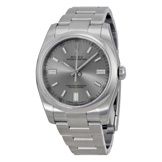 Rolex Oyster Perpetual 36 mm Rhodium Dial Stainless Steel Bracelet Automatic Men's Watch 116000RSO   Joma Shop