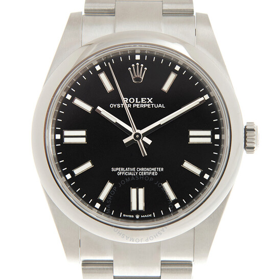 Rolex Oyster Perpetual 41 Automatic Black Dial Men's Watch 124300BKSO | Joma Shop