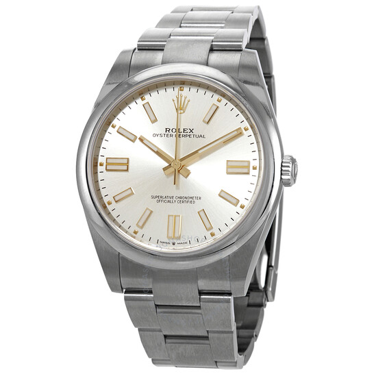 Rolex Oyster Perpetual 41 Automatic Silver Dial Men's Watch 124300SSO   Joma Shop