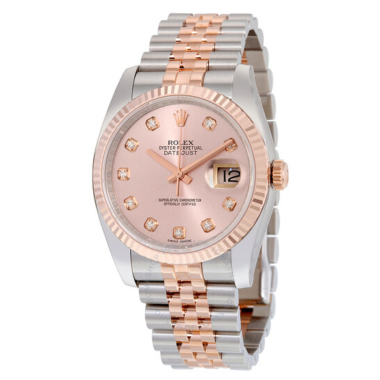 Rolex Oyster Perpetual Datejust 36 Rose Dial Stainless Steel and 18K Everose Gold Jubilee Bracelet Automatic Men's Watch 116231PDJ | Joma Shop