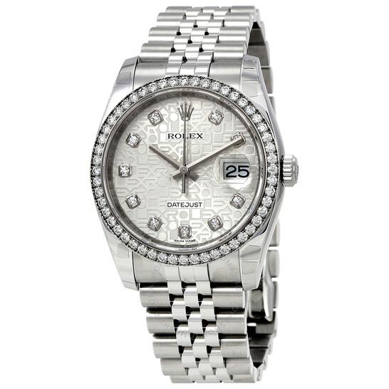 Rolex Oyster Perpetual Datejust 36 Silver Dial Stainless Steel Jubilee Bracelet Automatic Men's Watch 116244SJDJ | Joma Shop