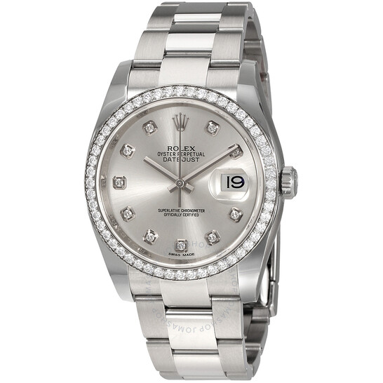 Rolex Oyster Perpetual Datejust 36 Silver Dial Stainless Steel Bracelet Automatic Ladies Watch 116244SDO   Joma Shop