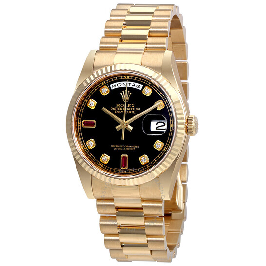 Rolex Oyster Perpetual Day-Date Automatic Men's 18 Carat Yellow Gold President Watch 118238BKDRP | Joma Shop