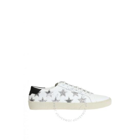 Saint Laurent Metallic California Low Optic White, Brand Size 39 (US Size 6) | Joma Shop
