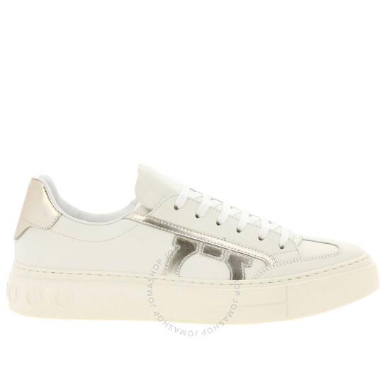 Salvatore Ferragamo Borg 10 Men's White Low Top Sneakers, Brand Size 6 | Joma Shop