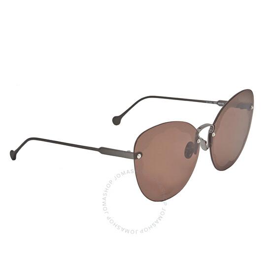 Salvatore Ferragamo Brown Butterfly Ladies Sunglasses Sf178s Fiore 067 63 Sf178s Fiore 067 63 Sunglasses Jomashop